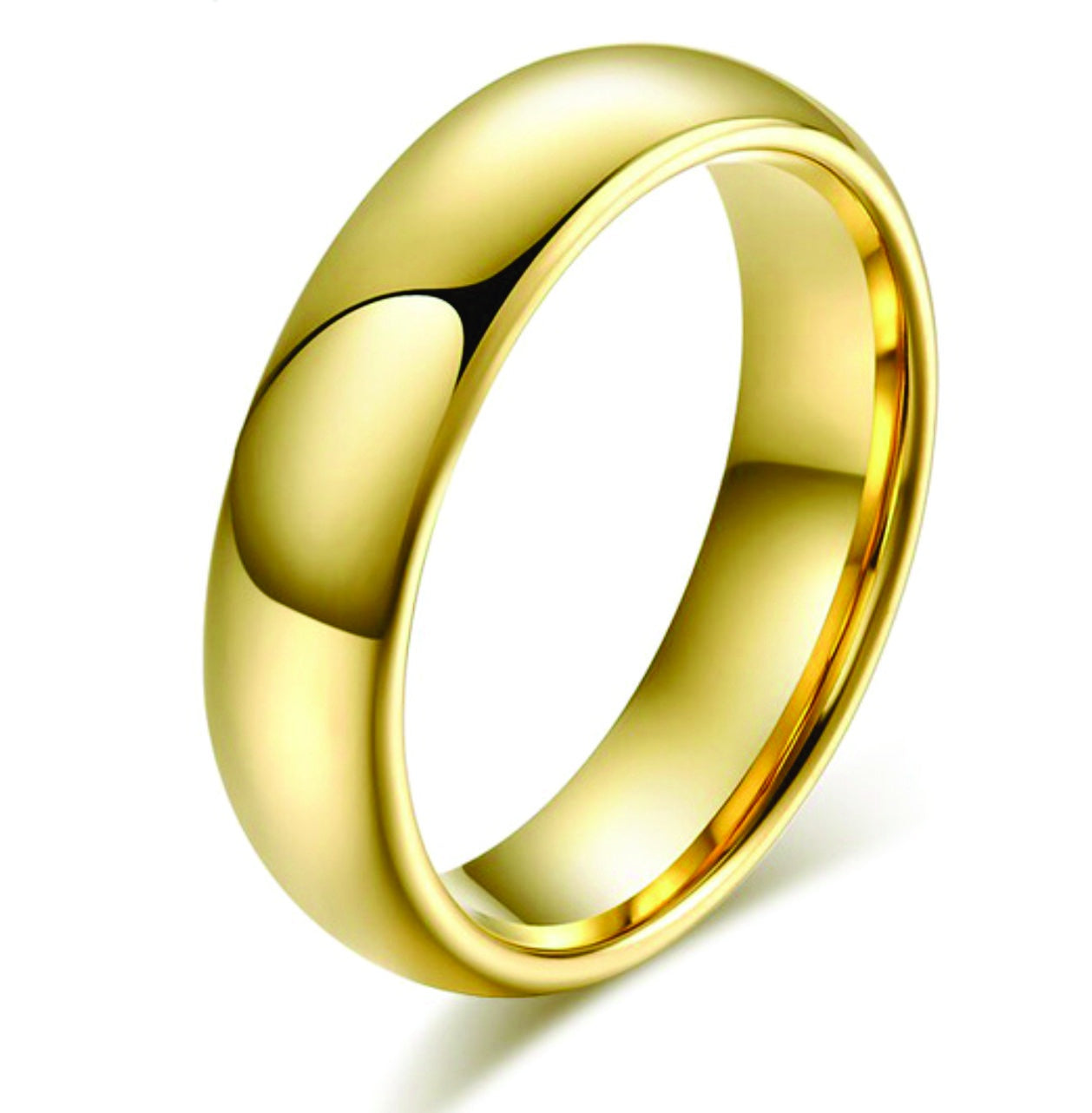 6mm Gold Tungsten Ring