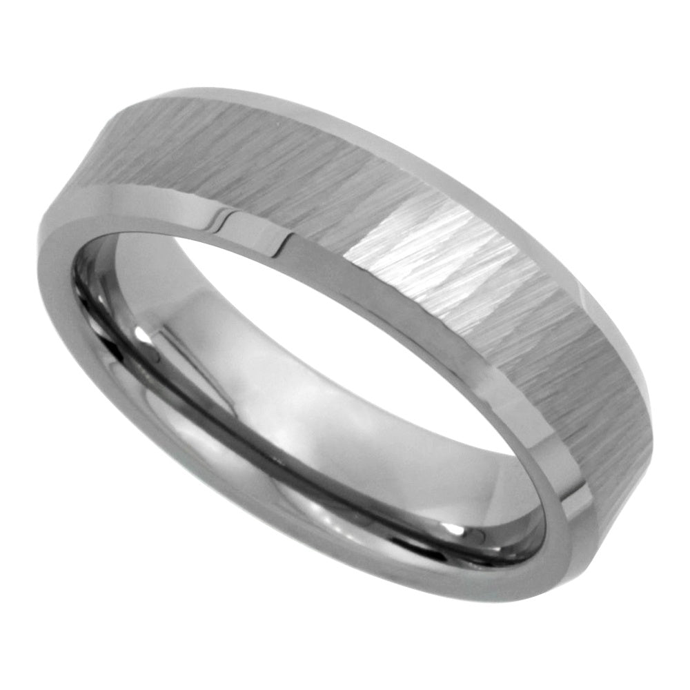 Tungsten Diamond Cut Finish 6mm