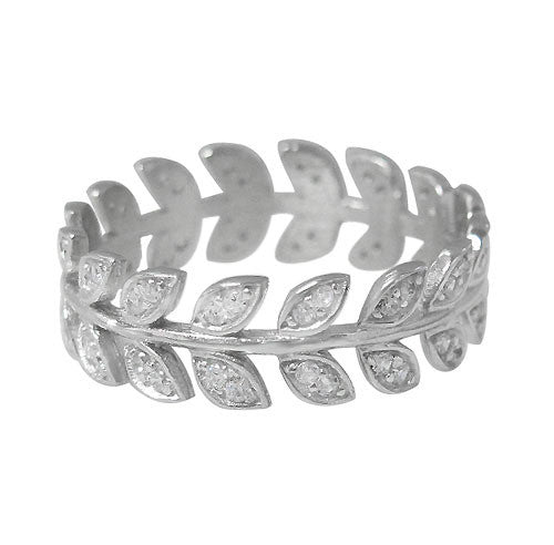 CZ Eternity Leaf Ring