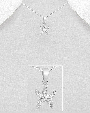 CZ Starfish Necklace
