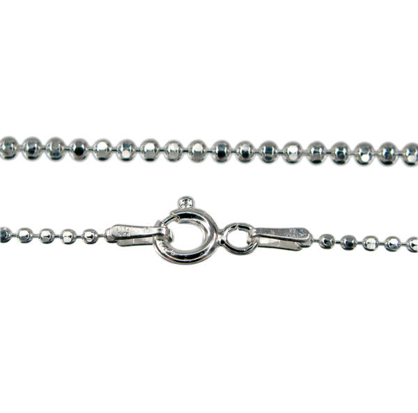 Sterling Silver Diamond Cut Bead Chain