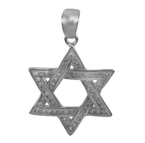 Framed CZ Star of David Necklace