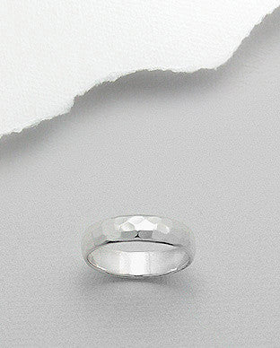 Hammered 5mm Ring