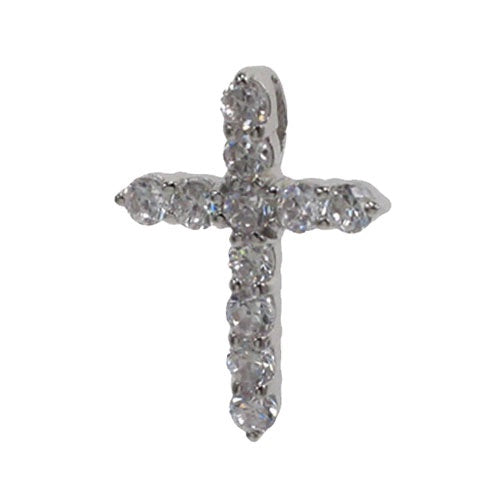 CZ Slider Cross Necklace