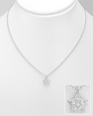CZ inside Star Necklace