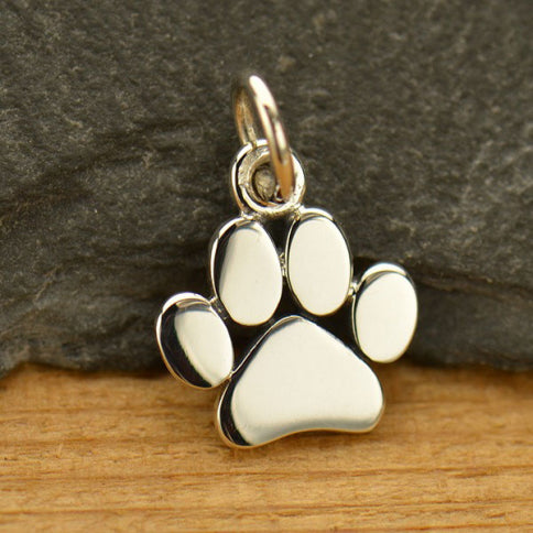 Flat Paw Print Necklace