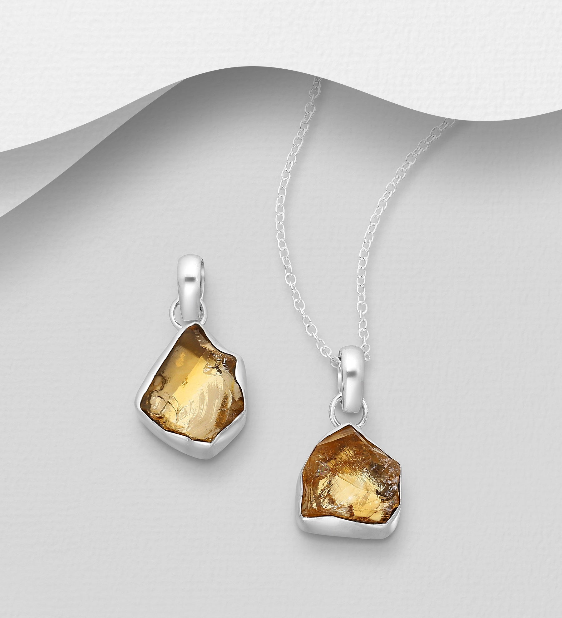Free Formed Citrine Necklace