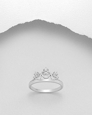 Triple Heart Crown Ring