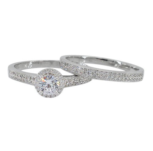 5mm Solitaire Engagement Ring Set
