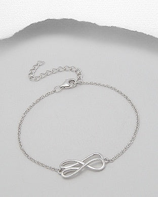 Layered Infinity Chain Bracelet