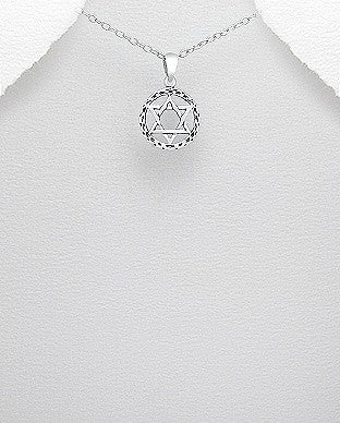 Star of David Circle Pendant