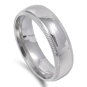 Stainless Steel Milgrain Ring