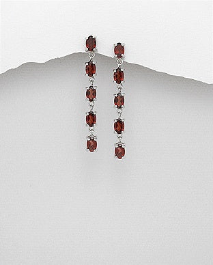 Garnet Drop Earrings