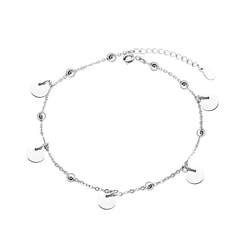 Chain and Dangle Disc Anklet