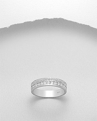Channel Set CZ Eternity Ring