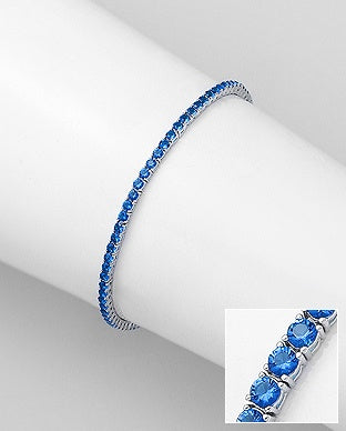 Color CZ Tennis Bracelet