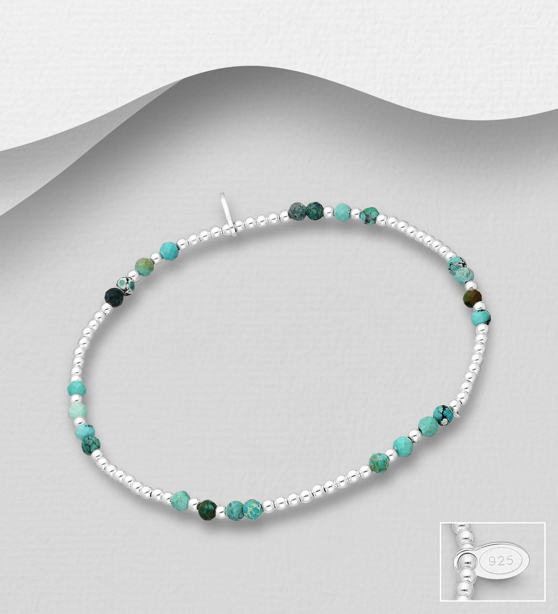 Turquoise Balanced Stretch Bracelet