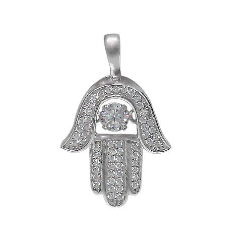 Dancing Stones Hamsa Necklace