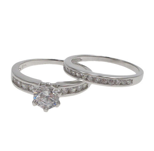 6.5mm Solitaire Engagement Ring Set