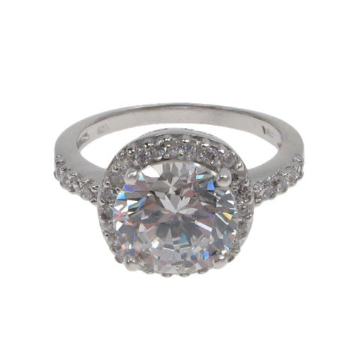 10mm CZ Solitaire Ring