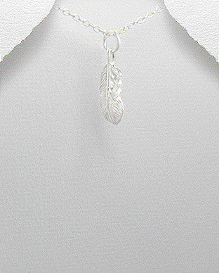 Feather Sterling Silver Charm