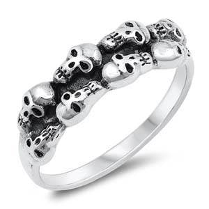 Top Double Layer Skull Ring