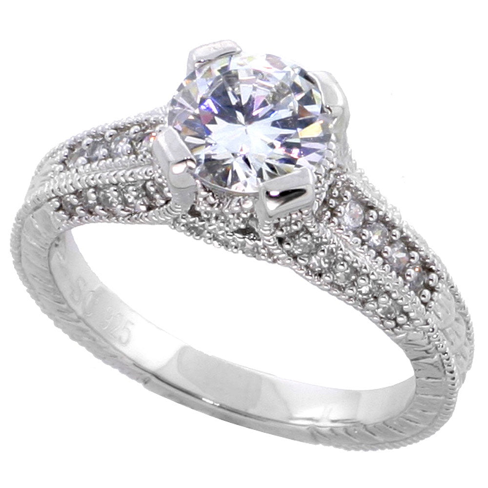 1.25ct CZ Solitaire Ring