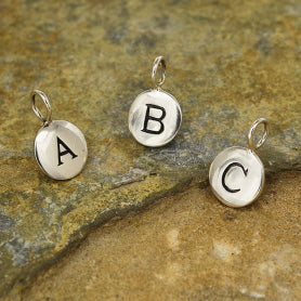 Circle Capital Letters Charm