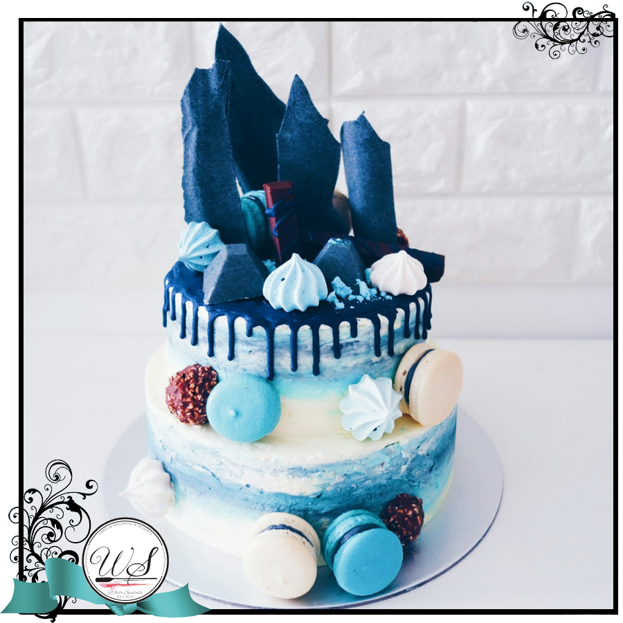 Special Loaded Drip Cake - White Spatula Singapore