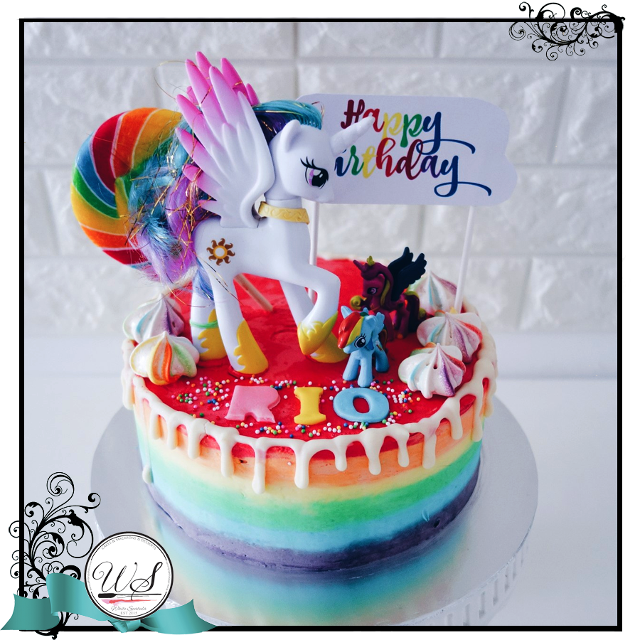 Little Horsey Rainbow Cake - White Spatula Singapore