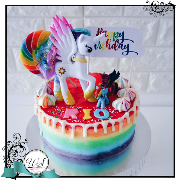 My Little Pony Rainbow Cake - White Spatula Singapore