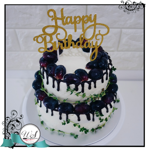Choc & Berries Drip Cake - White Spatula Singapore