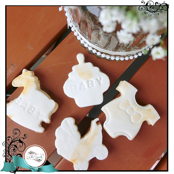 Baby Shower Cookie Favours - White Spatula Singapore