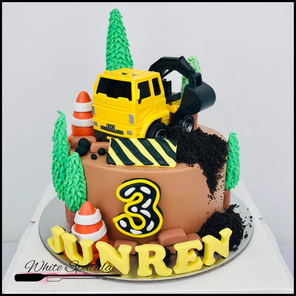 Construction Buttercream Cake - White Spatula Singapore