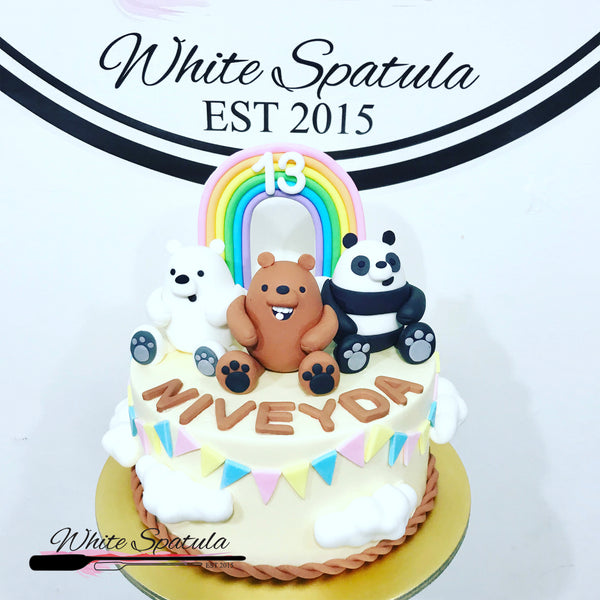 3 Bears Buttercream Cake