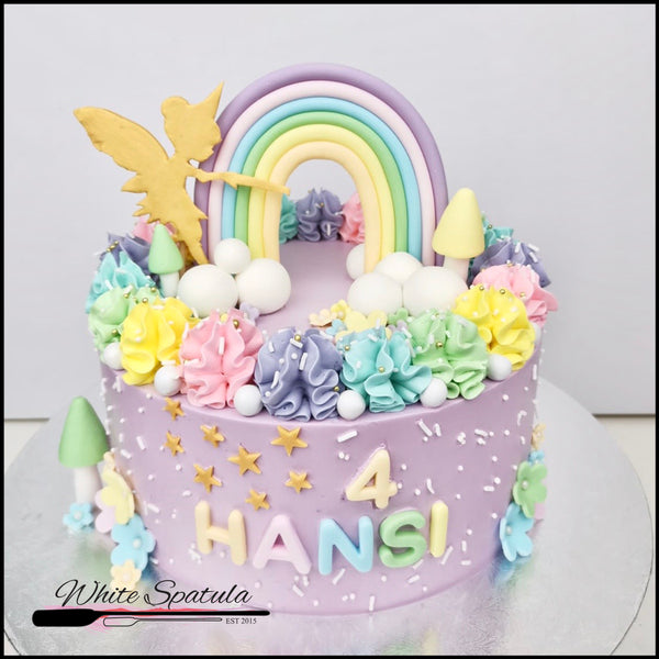 Fairy/Pixie Rainbow Buttercream Cake