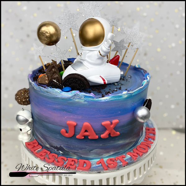 Astronaut / Outerspace Buttercream Cake