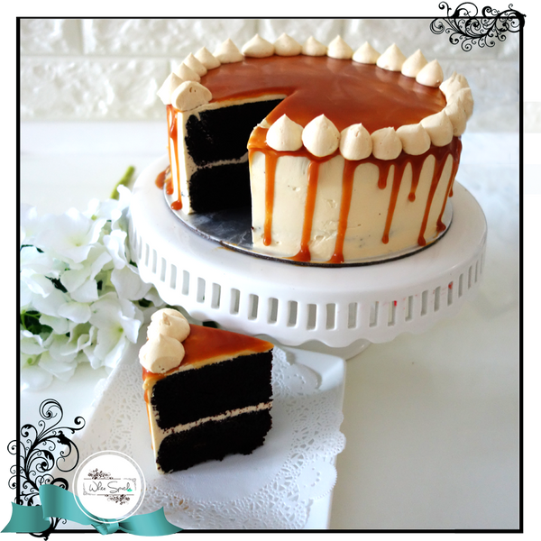 Chocolate Salted Caramel Cake - White Spatula Singapore