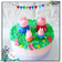 Piggy Family Buttercream Cake