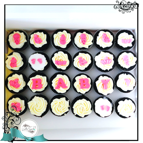 Baby Shower Cupcakes - White Spatula