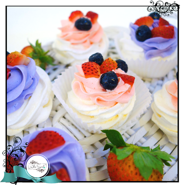 Mini Pavlovas with fresh cream and berries - White Spatula Singapore