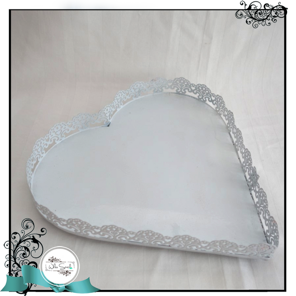 Heart-shaped laced tray - White Spatula Singapore