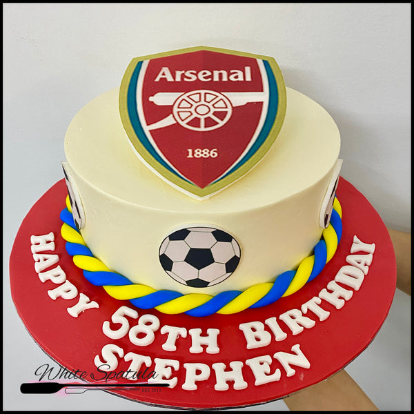 Arsenal Fan Buttercream Cake