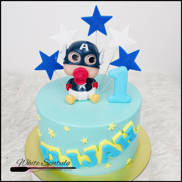 Baby Captain Buttercream Cake - White Spatula Singapore