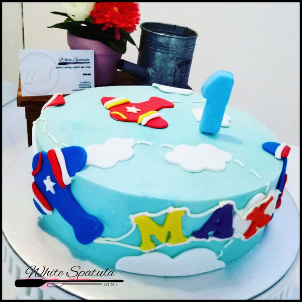 Air plane or Helicopter Buttercream Cake