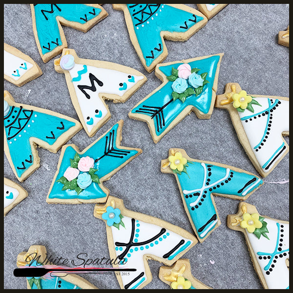 Boho Icing Cookie - White Spatula Singapore