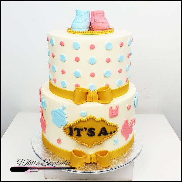 Gender Reveal Buttercream Cake