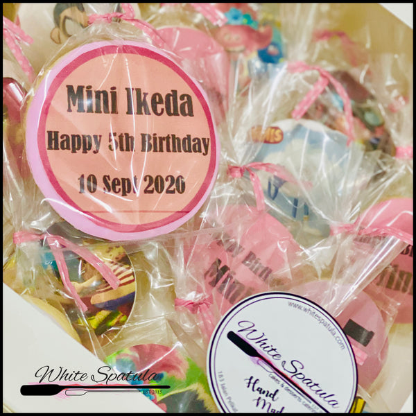 Edible Print Cookie Favors - White Spatula Singapore