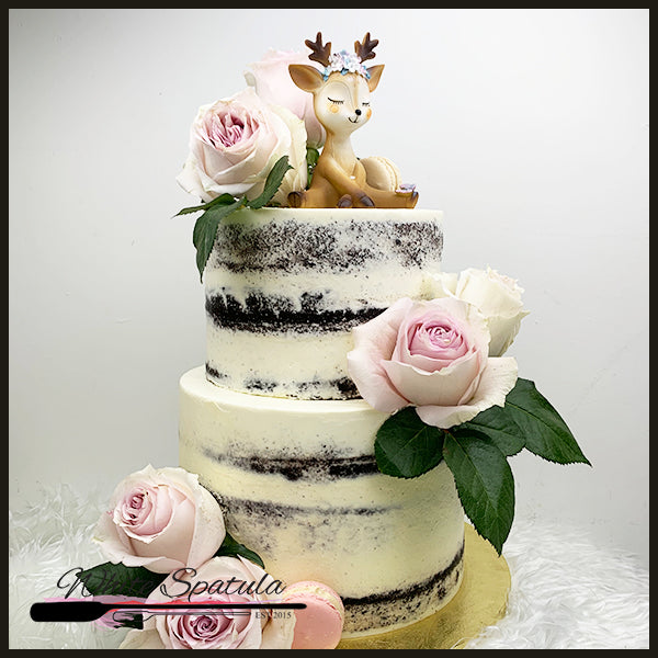 Woodlands/Enchanted Forest Semi-Naked Cake - White Spatula Singapore
