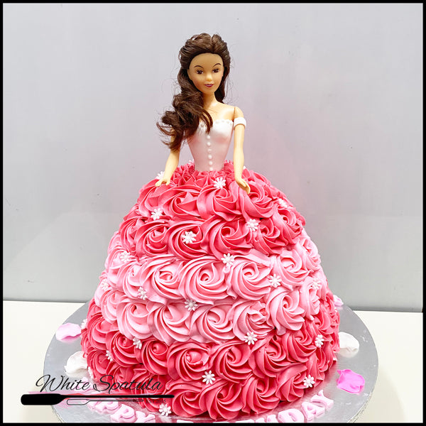 3D Princess Doll Buttercream Cake